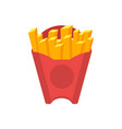 french fries isolated icon in flat style vector image vector image