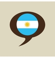globe sphere flag argentina country button graphic vector image vector image