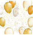 gold balloon background vector image