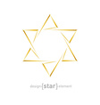 golden star of David on white background vector image vector image