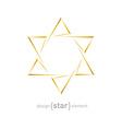 golden star of David on white background vector image