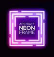 gradient pink violet neon light abstract squares vector image vector image
