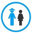Guy And Lady Rounded Icon vector image vector image