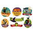 halloween icons for party greeting vector image vector image