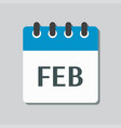 icon day calendar winter month february vector image vector image