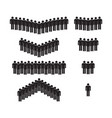 icon people group male person silhouette vector image