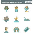Icons line set premium quality of gardening and vector image vector image