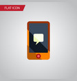 Isolated message flat icon chatting