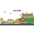 italy rome city skyline architecture buildings vector image