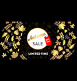 luxurious advertising banner with golden season fa vector image vector image