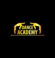 luxury golden dance academy logo vector image