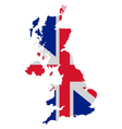 Map and flag of united kingdom vector | Price: 1 Credit (USD $1)