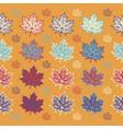 maple leaves on orange background vector image vector image