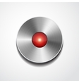 Metal record button isolated vector image vector image