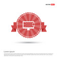 mobile with monitor icon - red ribbon banner vector image