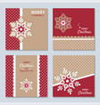 new year and christmas set with decorative vector image vector image