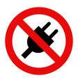 No plug icon vector image vector image