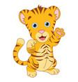 of cartoon tiger vector image vector image