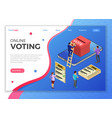 online internet voting isometric concept vector image