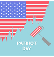 Paint roller brush Star and strip flag Patriot day vector image vector image