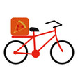 pizza bycicle flat vector image vector image