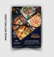 pizza restaurant flyer template vector image vector image
