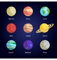 Planets decorative set vector image vector image