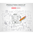 Production Check-up concept with Doodle design vector image