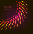 red lights abstract background vector image