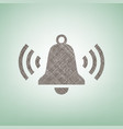 ringing bell icon brown flax icon on vector image vector image