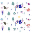 seamless natural ornament pattern vector image vector image