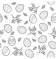 seamless pattern with easter eggs branches vector image vector image