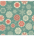 Seamless winter pattern with snowflakes vector | Price: 1 Credit (USD $1)