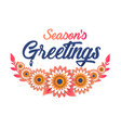 seasons greeting template beautiful origami vector image