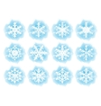 set flat snowflake icons vector image