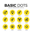 sexual orientation flat icons set vector image vector image