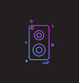 speaker music icon design vector image