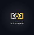 star emblem square company gold logo vector image vector image