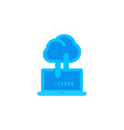 sync with cloud icon data upload connection vector image vector image