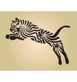 tiger ornament decoration 4 vector image vector image