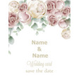 wedding card roses vintage decor design frame vector image vector image