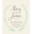Wedding Invitation with Hand drawn laurel wreaths vector image vector image