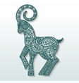 White goat of patterned paper - a symbol of new vector image