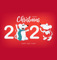 white rats symbol 2020 chinese new year vector image vector image