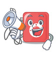 with megaphone mp3 player in the cartoon shape vector image vector image