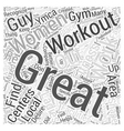 womens fitness centers Word Cloud Concept vector image vector image