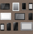 Modern Phone and Tablet Icons vector image