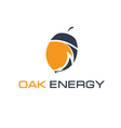 Abstract icon of acorn and arrow energy vector image