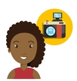 avatar woman and camera vector image