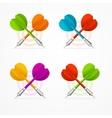Color Darts Set vector image